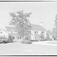 F.J. Holleran, residence in Deer Park, Greenwich, Connecticut. Entrance facade II