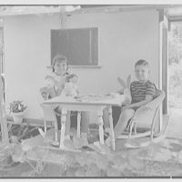 George Moore, residence at 36th & W. View, West Palm Beach, Florida. Simonson children