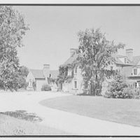 Gerald F. Warburg, residence in Brookville, Long Island. Entrance facade II