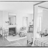 Gerald F. Warburg, residence in Brookville, Long Island. Master bedroom
