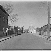 Greater New York Brewery Inc., 501 First Ave., New York City, Cypress Ave., brewery & vicinity. No. 8, looking north on Hancock St., from Cypress Ave