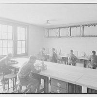 Greenwich Boys' Club, Greenwich, Connecticut. Metal and leather class