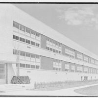 Harrison High School, Harrison, New York. East facade, sharp