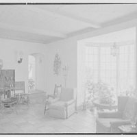 Harvey Ladew, residence in Gulf Stream, Florida. Living room desk and window
