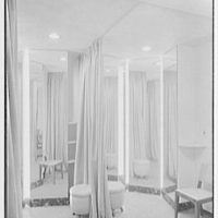 H.E. Brown Co., business at 833 Franklin Ave., Garden City, Long Island. Fitting room
