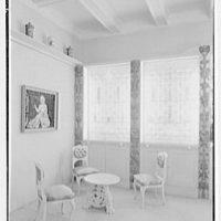 Helena Rubinstein, 16 E. 55th St., New York City. Blue room, to corner