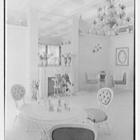 Helena Rubinstein, 16 E. 55th St., New York City. Blue room, to fireplace