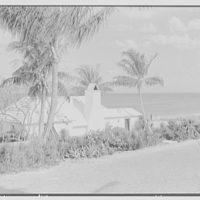Hubert J. Jenkins, residence on S. Ocean Blvd., Palm Beach, Florida. Beach house from Carr's