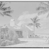 Hubert J. Jenkins, residence on S. Ocean Blvd., Palm Beach, Florida. Beach house from south
