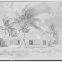 Hubert J. Jenkins, residence on S. Ocean Blvd., Palm Beach, Florida. Beach house from east