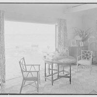 Hubert J. Jenkins, residence on S. Ocean Blvd., Palm Beach, Florida. Beach house interior III