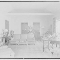 Hubert J. Jenkins, residence on S. Ocean Blvd., Palm Beach, Florida. Beach house interior I