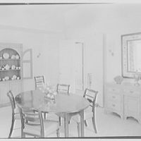 James H. McGraw, Jr., residence in Hobe Sound, Florida. Dining room