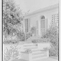 James H. McGraw, Jr., residence in Hobe Sound, Florida. Entrance detail