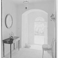 James H. McGraw, Jr., residence in Hobe Sound, Florida. Entrance hall, looking out
