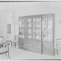James H. McGraw, Jr., residence in Hobe Sound, Florida. Living room, to secretary