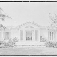 James H. McGraw, Jr., residence in Hobe Sound, Florida. Ocean facade, axis view