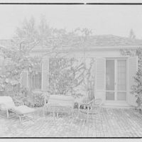 James H. McGraw, Jr., residence in Hobe Sound, Florida. Patio
