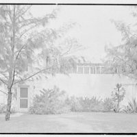 James H. McGraw, Jr., residence in Hobe Sound, Florida. West facade, direct view