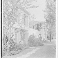 James H. McGraw, Jr., residence in Hobe Sound, Florida. West facade, sharp