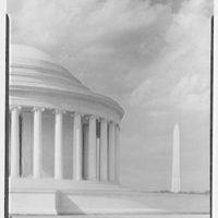 Jefferson Memorial, Washington, D.C. Detail I, with Washington Monument