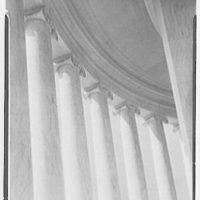 Jefferson Memorial, Washington, D.C. Oblique view to columns