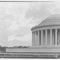 Jefferson Memorial, Washington, D.C. Sunset silhouette, horizontal