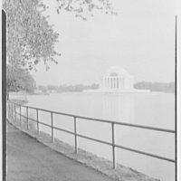 Jefferson Memorial, Washington, D.C. View across walk and rail