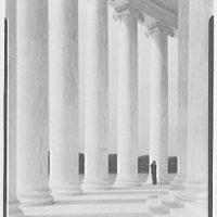 Jefferson Memorial, Washington, D.C. View through columns to west