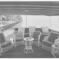 J.J. Archbold, 2830 Sunset Ave., Sunset Island, no. 1, Miami Beach, Florida. Rear deck