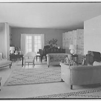 John Wentworth, residence at 2817 Lake Ave., Sunset Island, no. 1, Miami. Living room I