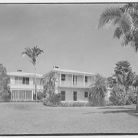 John Wentworth, residence at 2817 Lake Ave., Sunset Island, no. 1, Miami. South facade II