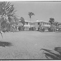 John Wentworth, residence at 2817 Lake Ave., Sunset Island, no. 1, Miami. South facade I