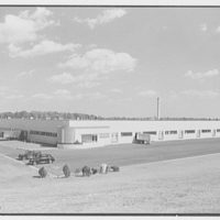 Johnson & Johnson, Personal Products Corp., Milltown, New Jersey. General view of south and west facades from hill
