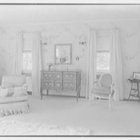 Lewis S. Cates, residence on Riversville Rd., Greenwich, Connecticut. Bedroom, to two windows
