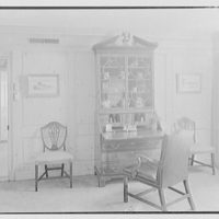 Lewis S. Cates, residence on Riversville Rd., Greenwich, Connecticut. Pine room, to desk I