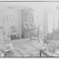 Lewis S. Cates, residence on Riversville Rd., Greenwich, Connecticut. Pine room, to desk II
