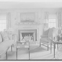 Lewis S. Cates, residence on Riversville Rd., Greenwich, Connecticut. Pine room, to fireplace