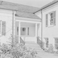 Little School, Englewood, New Jersey. Entrance detail