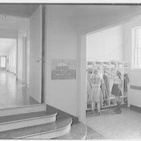 Little School, Englewood, New Jersey. Locker room