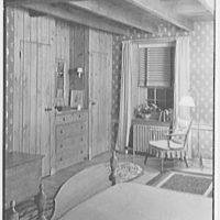 Louis H. Engel, residence in Carversville, Bucks County, Pennsylvania. Bedroom