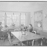 Louis H. Engel, residence in Carversville, Bucks County, Pennsylvania. Dining room window