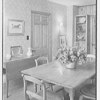 Louis H. Engel, residence in Carversville, Bucks County, Pennsylvania. Dining room, to cupboard
