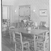 Louis H. Engel, residence in Carversville, Bucks County, Pennsylvania. Dining room, vertical