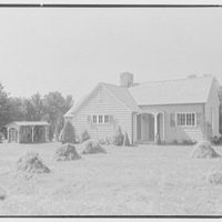 Miss Ruth Thompson, residence on Parsonage Rd., Greenwich, Connecticut. East facade I