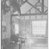 Miss Ruth Thompson, residence on Parsonage Rd., Greenwich, Connecticut. Living room, general view to window, 3 p.m.