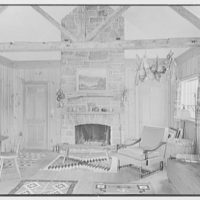 Miss Ruth Thompson, residence on Parsonage Rd., Greenwich, Connecticut. Living room, 11 a.m.