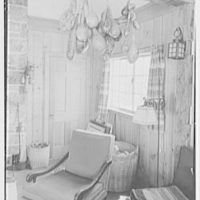 Miss Ruth Thompson, residence on Parsonage Rd., Greenwich, Connecticut. Living room, corner detail with gourds