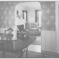 Mr. Alfred W. Koch, residence at 42 Hawthorne St., Lynbrook, Long Island. View across dinette, to living room