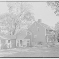 Mrs. Archer H. Brown, residence on Fairfield Ave., Greenwich, Connecticut. Entrance facade, general view from left